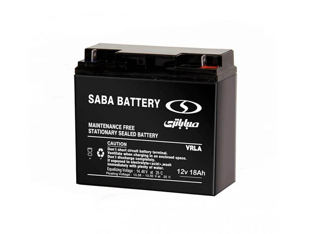 باتری یو پی اس Saba VRLA 12V-18AH