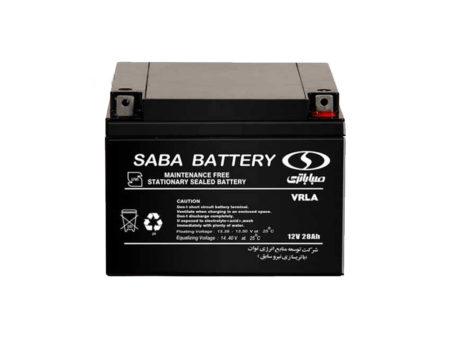 باتری یوپی اس 12 ولت 28 آمپر صبا